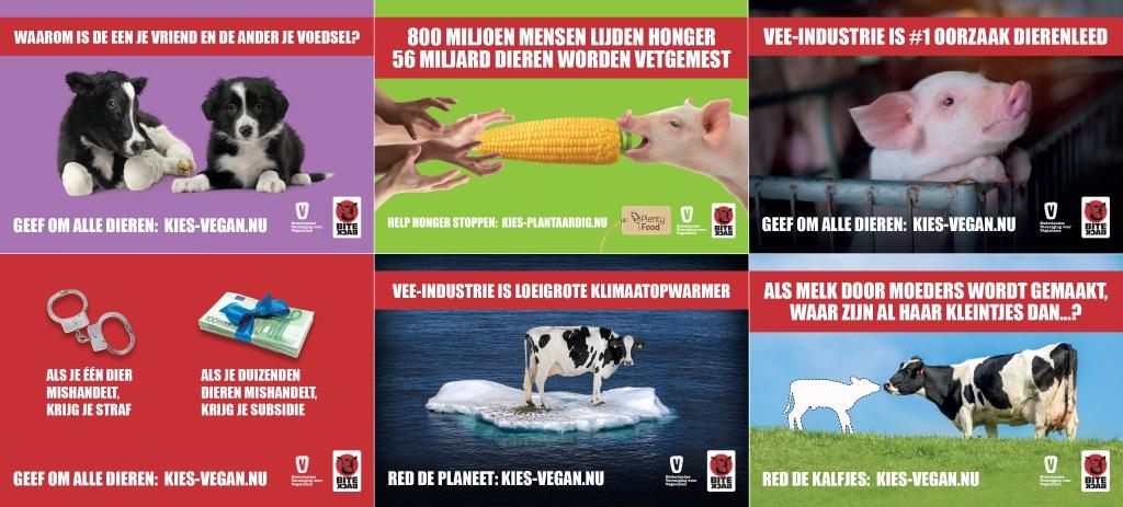 Kies vegan nu: postercampagne i.s.m. Bite Back