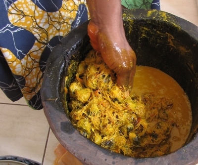 Palmolie handproductie